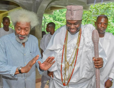 #At85: Soyinka a sefless pathfinder, great African pride ? Ooni