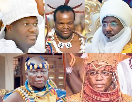Ooni of Ife, Oba of Benin, Emir of Kano, others for ATQ's Africa Travel 100 Global Personalities awards