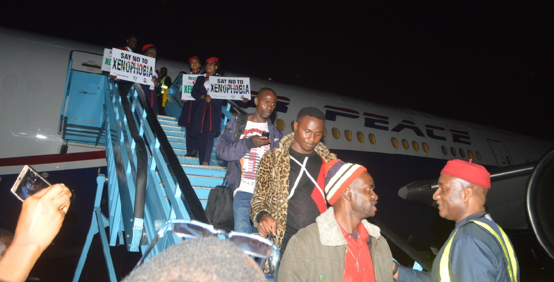 BREAKING: Xenophobia: 187 Nigerians arrive Lagos from South Africa