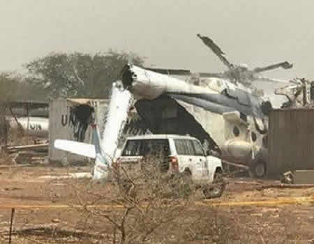 BREAKING: Three dead in UN helicopter crash