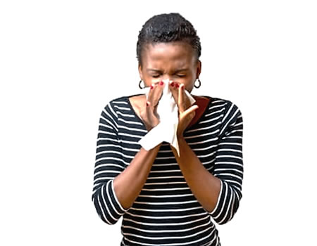 Cold: Blowing your nose can worsen it