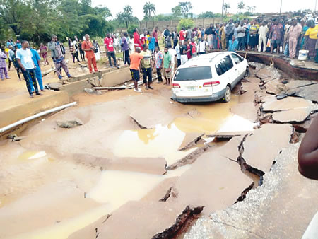 Ureje Bridge collapse:  Ekiti residents, commuters worry over incessant rain