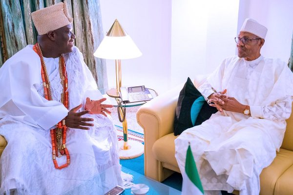 Insecurity: We don't want war, Ooni cries out in meeting with Buhari » Latest News » Tribune Online