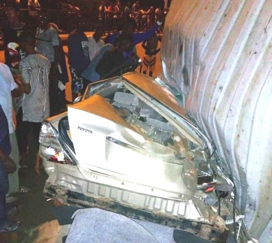 UPDATE: Two dead, many injured as container falls in Lagos